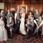 Made in Chelsea pose on wedding day at Lochgreen House Hotel