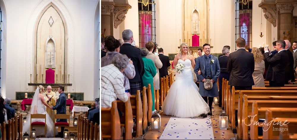 Wedding ceremony in St Mungo's Church in Glasgow