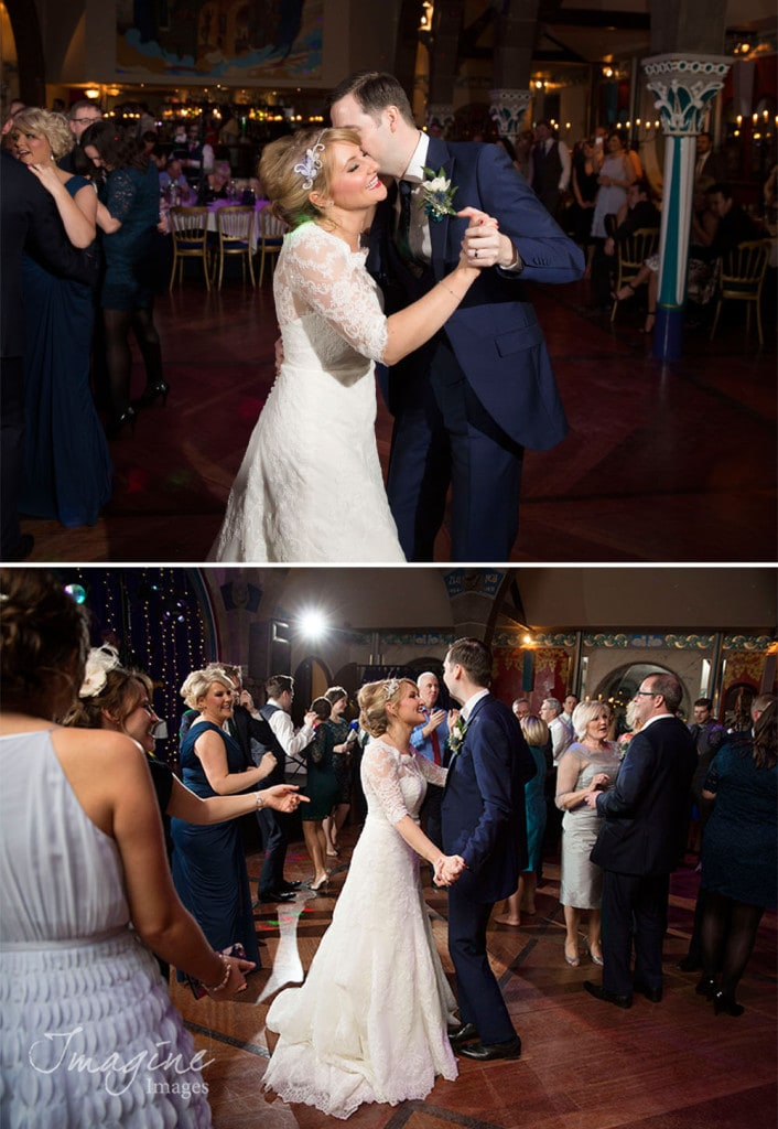 Bride and Groom first dance in Oran Mor Glasgow