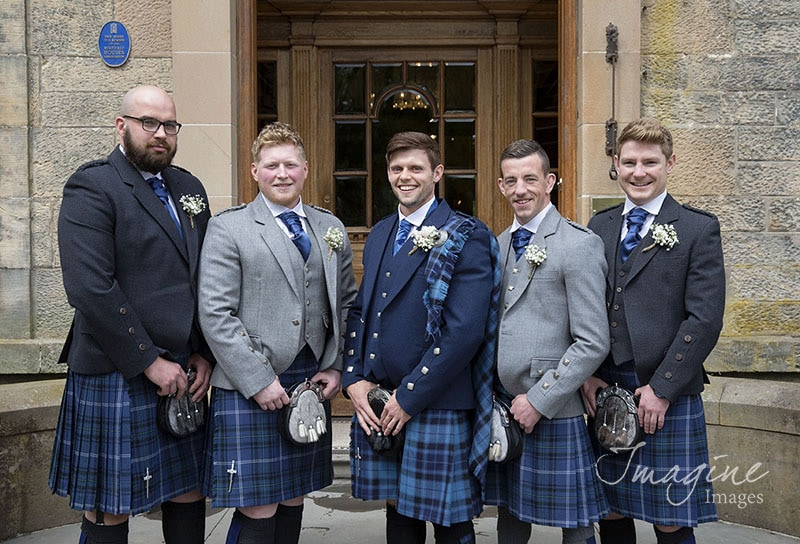 Groom with groomsmen at Solsgirth House Hotel