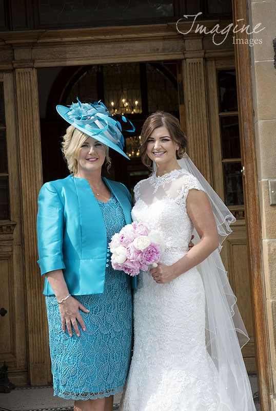 Bride and mum on wedding day at Solsgirth House Hotel