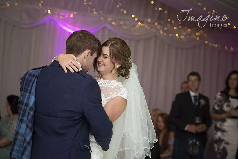 Bride and groom first dance at Solsgirth House Hotel