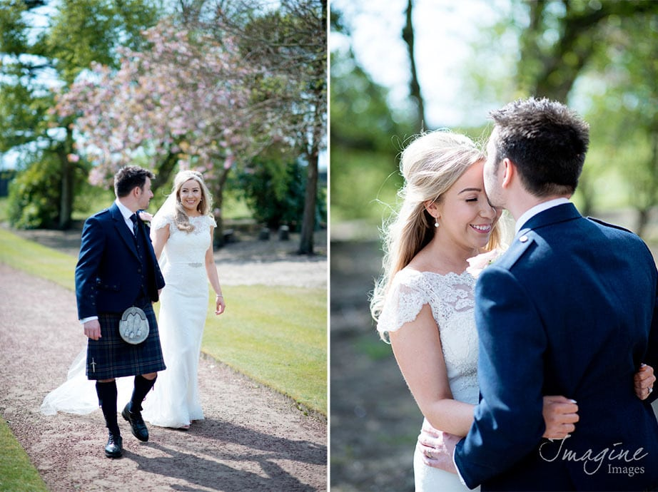 Bride and Groom at Lochgreen House Hotel wedding
