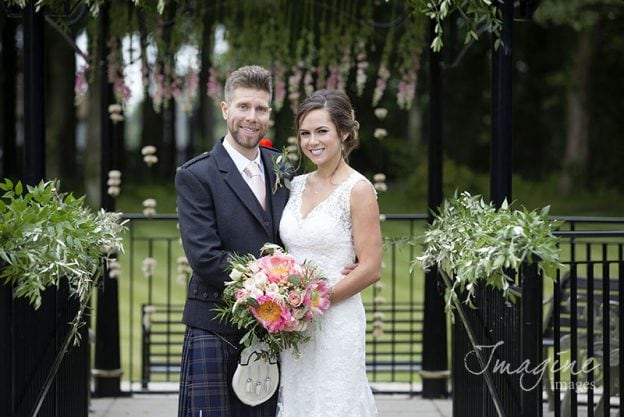 Bride and Groom at Lochgreen House Hotel
