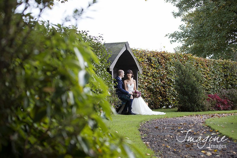 Bride and Groom on their wedding day at Western House Hotel